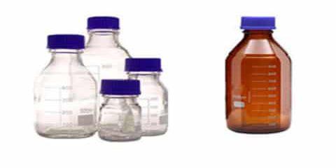 بطری درب پیچدار قابل اتوکلاو قهوه ای و سفید | فروش بطری درب پیچدار قابل اتوکلاو قهوه ای و سفید | قیمت بطری درب پیچدار قابل اتوکلاو قهوه ای و سفید